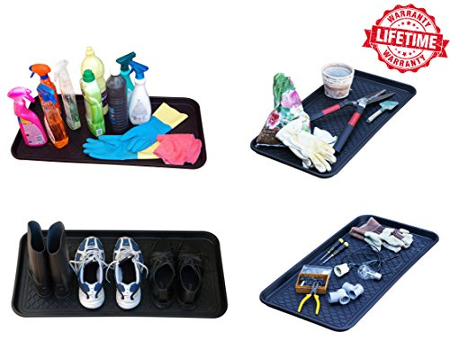 3 Pack Multi Purpose Anti Slip Tray And Mat For Boots