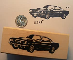 Ford mustang rubber stamp WM P10