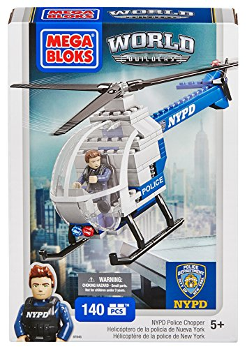 Mega Bloks World Builders NYPD Police Chopper - 1