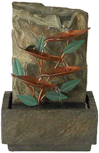Blue Bird of Paradise Tabletop Fountain