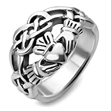 buy Sterling Silver Celtic Knot Infinity Symbol Claddagh Friendship And Love Wide Band Ring Size 7