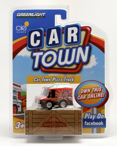 CAR TOWN PIZZA TRUCK * 2 Speed Pull-Back Motor * 2013 Car Town Series 1 Greenlight Collectibles Vehicle