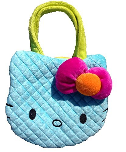 Hello Kitty Blue Neon Plush Handbag - Pink Bow