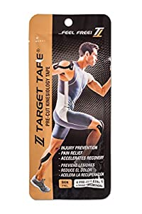 TT TARGET TAPE Kinesiology Blister Pack 4 Pre-Cut Strips - Skin