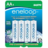 eneloop NEW 2000mAh Typical, 1900mAh Minimum, 1500 cycle, 4 Pack AA, Ni-MH Pre-Charged Rechargeable Batteries
