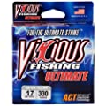 Vicious Fishing Vcl-17 Ultimate 330-yard Fishing Line Low Visibility Clear Clear by Vicious Fishing