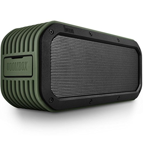 Divoom Voombox-Outdoor Portable Ultra Rugged And Water Resistant Bluetooth 4.0 Wireless Speaker With 15W Output And 12 Hous Playback Time Color Green