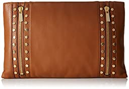 Vince Camuto Julle Clutch, Mocha Bisque, One Size