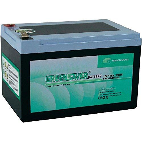 Batterie silicone-plomb 12V 15Ah Greensaver SP15-12, SP12-12