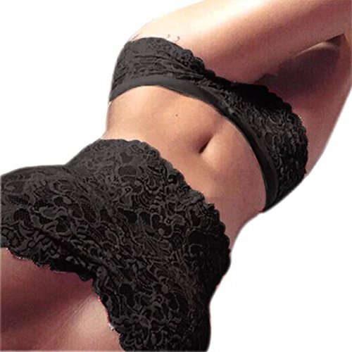 [Lingerie ,Beautyvan Comfortable Sexy Women Lace Tube Top Briefs Club Underwear Set (XL, Black)] (Really Sexy Halloween Costumes)