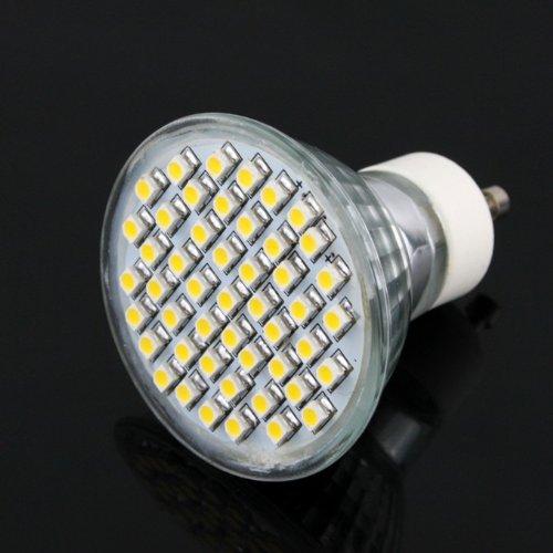 Gu10 3W Led Bulb Warm White Ac(110V-220V) Source(High Performance Led Smd 3528)