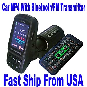 "Z1RB 1.8"" 2G Car MP4 MP3 FM Transmitter Bluetooth folder Memory Player A179"