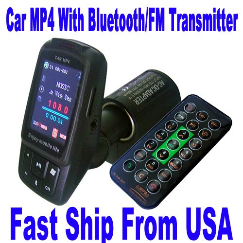 Z1RB 1.8″ 2G Car MP4 MP3 FM Transmitter Bluetooth folder Memory Player A179