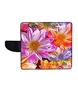 KolorEdge Printed Flip Cover For Gionee Pionee P2 Multicolor - (43KeMLogo10429GioneeP2)