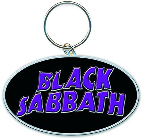 Black Sabbath 13 Flame Circle Metal Keychain
