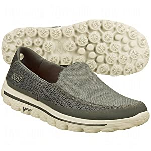 Skechers Go Walk 2 Mens Mesh Slip-On Shoes 9 Us Medium Charcoal