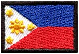 Flag Of Philippines Filipino Sew Sewing Applique Iron-On Patch