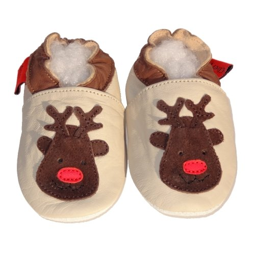 Soft Leather Baby Shoes Reindeer 6-12 months