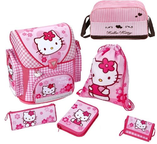 Hello Kitty Schulranzen Set 6tlg