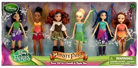 Disney The Pirate Fairy Exclusive 5 Inch Doll 6-Pack Faries Doll Set