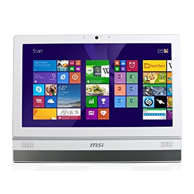 "MSI ADORA20 2BT-002EU PC All In One, Schermo 19.5"" HD+ LED, Intel B TRAIL-Dual Core J1900 1.8GHz, RAM 4GB, HD 500GB, Bianco"