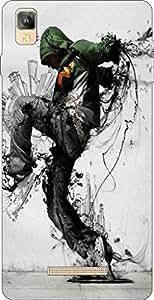 Go Hooked Designer Soft Back cover for Panasonic Eluga A2 + Free Mobile Stand (Assorted Design)