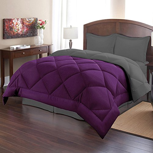 Find Cheap 3 Piece Reversible Polyester Microfiber Goose Down Alternative Comforter Set with pillow ...