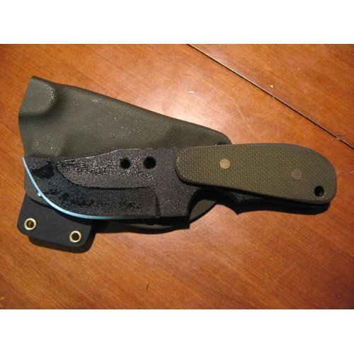 Shadow Tech Knives 027 Backup XL Fixed Blade Knife with OD Green G-10 Handles