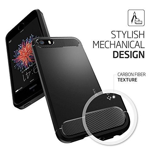 Cover-iPhone-5S-Spigen-Cover-iPhone-SE-5-Rugged-Armor-Impressionante-Black-Massima-Protezione-Da-Cadute-e-Urti-Cover-Custodia-iPhone-5S-Custodia-iPhone-SE-5-041CS20167