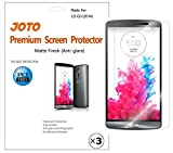 LG G3 Screen Protector - JOTO LG G3 Screen Protector Film, Anti Glare, Anti Fingerprint (Matte Finish) version Screen Guard for 2014 LG G3 smartphone with Lifetime Replacement Warranty, ATT, Verizon, Sprint, T-Mobile, International and Unlocked (3 Pack)
