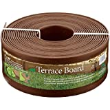Master Mark Plastics 95340 Terrace Board Foot Landscape Edging Coil  5 Inch by 40 Foot, Brown