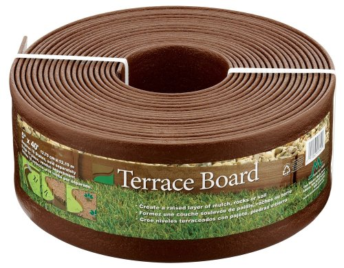 Master Mark Plastics 95340 Terrace Board 5-Inch-by-40-Foot Landscape Edging Coil, Brown