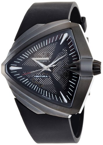 Hamilton Men's H24615331 Ventura XXL Elvis Anniversary Collection Black Fixed Gunmetal PVD Watch