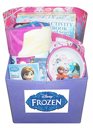 Disney Frozen Gift Basket - Perfect For Easter, Birthday, Christmas Or Other Occasion front-8951