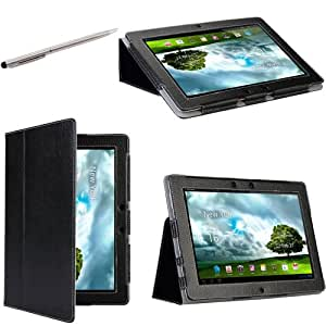 i-Blason Asus Transformer Pad Infinity TF700T TF700 10.1 Tablet Premium Leather Folio Carry Case / Stylus / Cover With Adjustable Stand-Black