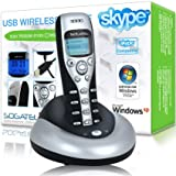 Sogatel   Skype compatible USB cordless internet phone   Windows 7, Vista, XP electronics