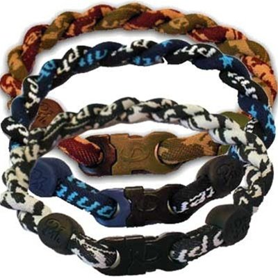 Phiten Titanium Tornado Bracelets – Black & Blue