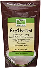 NOW Foods Erythritol Pure Sweetener  16 Ounce Bags Pack of 3 Package May Vary