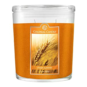 Colonial Candle 22-Ounce Scented Oval Jar Candle, Indian Summer