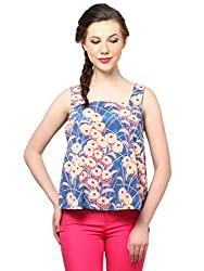 XnY Open Back Floral Printed Top