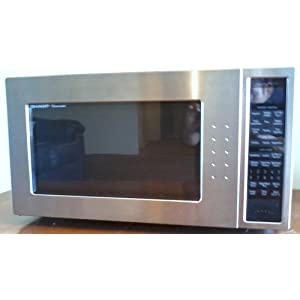 Sharp R-530ES 2-Cubic-Foot 1200-Watt Microwave, Stainless Steel and Black