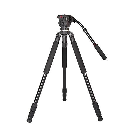 Andoer JY0509A en alliage d'aluminium Caméra DSLR Photographie Caméscope Trépied max hauteur 161cm avec tête fluide + un Sac