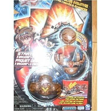 Bakugan Battle Brawlers Starter Pack   Subterra Brown Translucent Reaper Fright Ripper And Mystery Marble