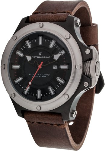 Sottomarino Porto Azzurro SM90020-A Men's Watch with Brown Leather Band