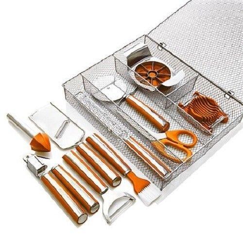 Orange Wolfgang Puck 11-Piece Complete Kitchen Tool Kit