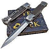 TEK Tactical Edge Knives: Black G10 Spring Assisted Opening Folding Blade Pocket Knife