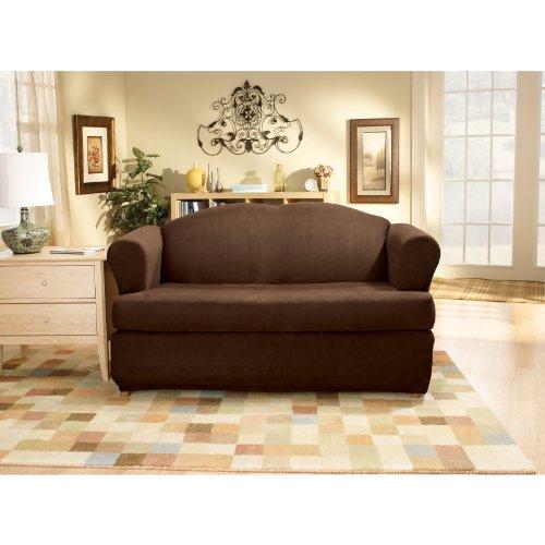 Sensational 4M2Shop Very Cheap Sure Fit Stretch Suede T Loveseat Short Links Chair Design For Home Short Linksinfo