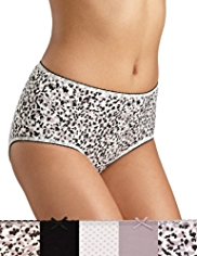 5 Pack Cotton Rich Animal Print Midis