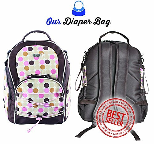 Go Diaper Bag Pink - 11 Pockets ★Durable ★Heavy Duty ★Light Weight ★Comfortable Strap★ Non-Slip Strap ★Premium Quality 253.2