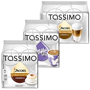 Tassimo Cream Collection, 3 Sorten, Kaffee, Kakao, Milchkaffee, Kapsel, 40 T-Discs, 24 Portionen